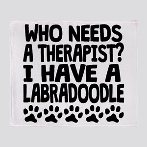 I Have A Labradoodle Throw Blanket